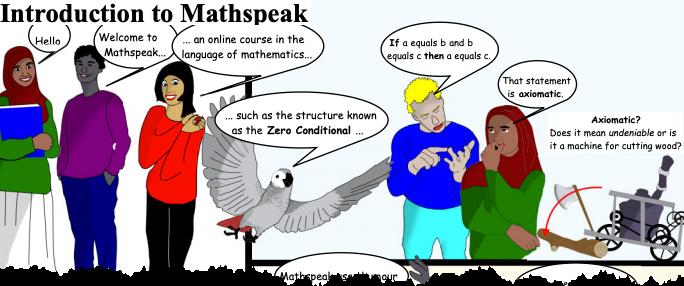 sample image from Unit 1 of Mathspeak