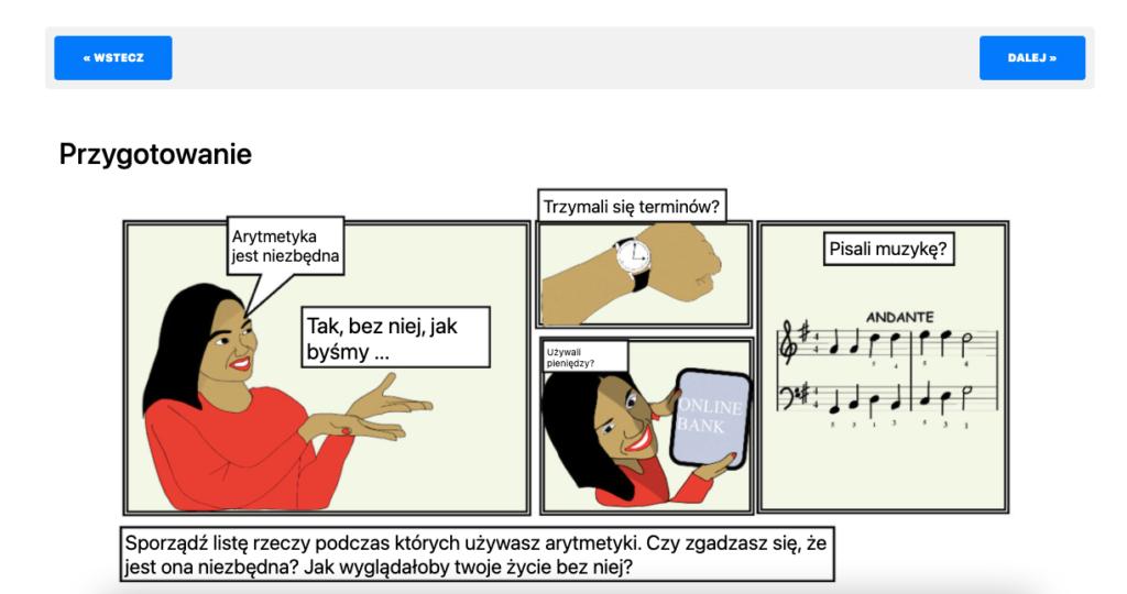 Mathspeak course image Module 2 in Polish